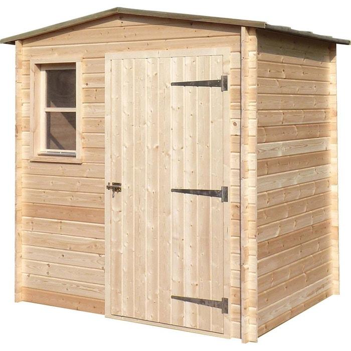 Abri de jardin en bois non traité basic 4.41 m² 292634_12 Jardindeco ...