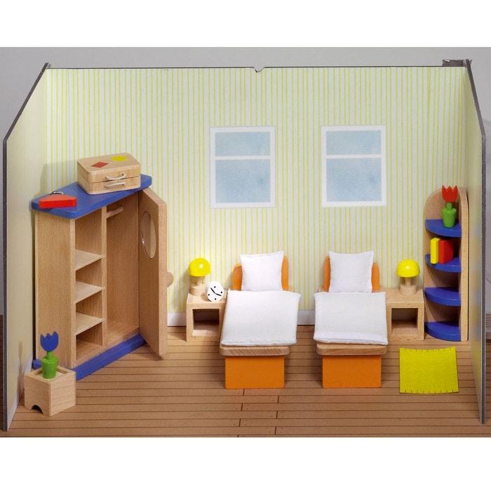 Maison de poup es mobilier chambre coucher lits for Chambre a coucher la redoute