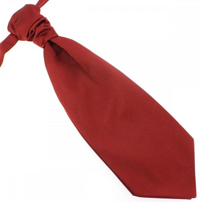 Lavallière nouée en soie, rouge peonia, faite à la main rouge Tony Et Paul | La Redoute