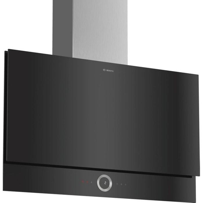 Bosch hotte d corative inclin e 90cm 730m3 h noir dwf97rv60 couleur unique bosch la redoute - Hotte decorative inclinee ...
