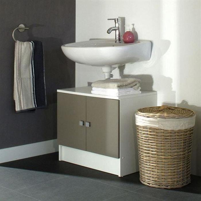 meuble sous lavabo 60cm blanctaupe galet philips image 0