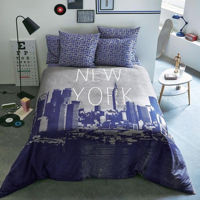 housse de couette imprim e new york woox la redoute. Black Bedroom Furniture Sets. Home Design Ideas