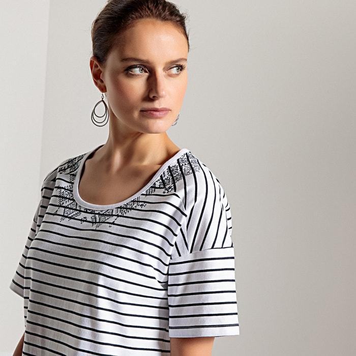 manga con cuello corta WEYBURN pico Camiseta de ANNE rayas a 8TqwRU
