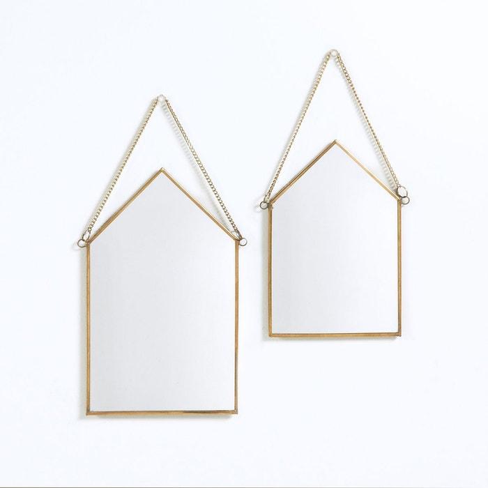 lot de 2 miroirs maison lot de 2 uyova laiton la redoute interieurs la redoute. Black Bedroom Furniture Sets. Home Design Ideas