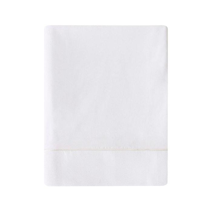 drap plat regain en satin de coton panna cotta panna cotta essix la redoute. Black Bedroom Furniture Sets. Home Design Ideas