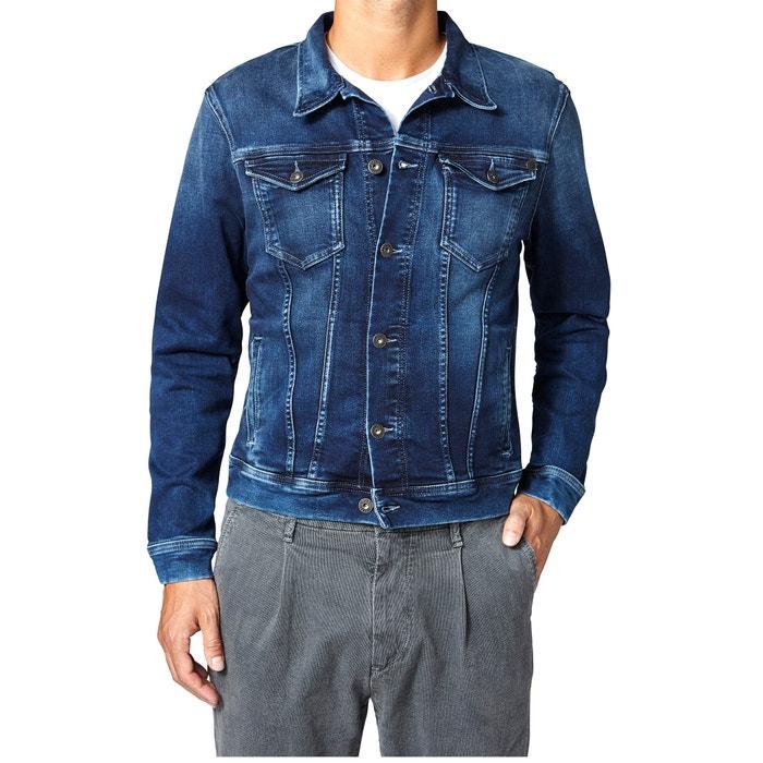 denim jacket 39 legend 39 used dark blue pepe jeans la redoute. Black Bedroom Furniture Sets. Home Design Ideas