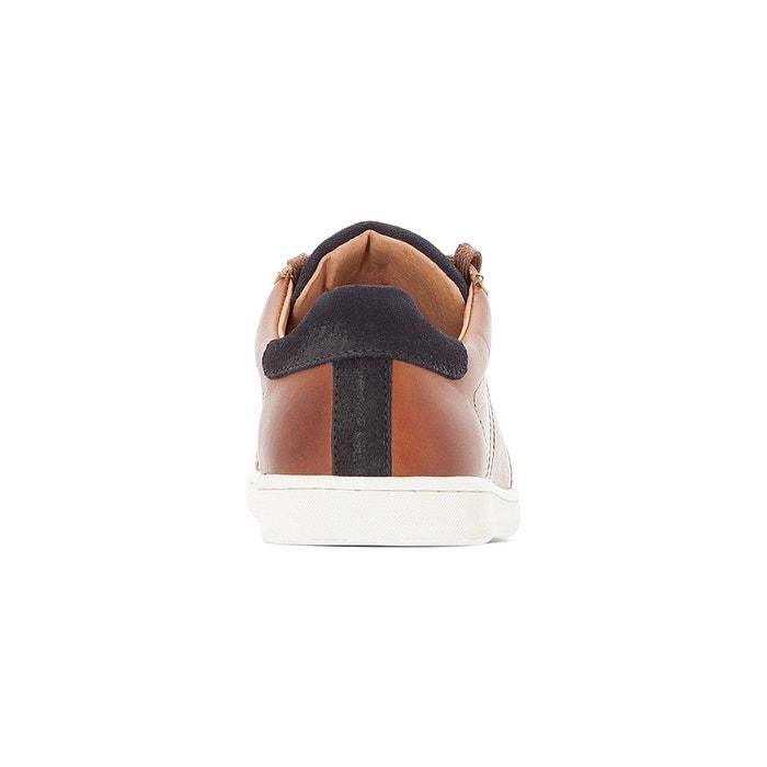 Baskets cuir ormil cognac Redskins