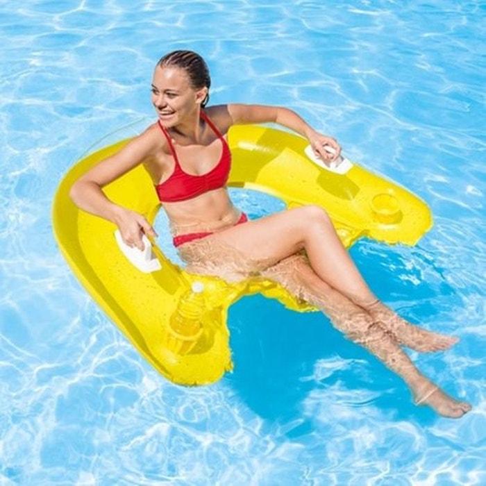 Fauteuil de piscine gonflable semiimmergé sit n float Intex   La Redoute 87bf73c1571e