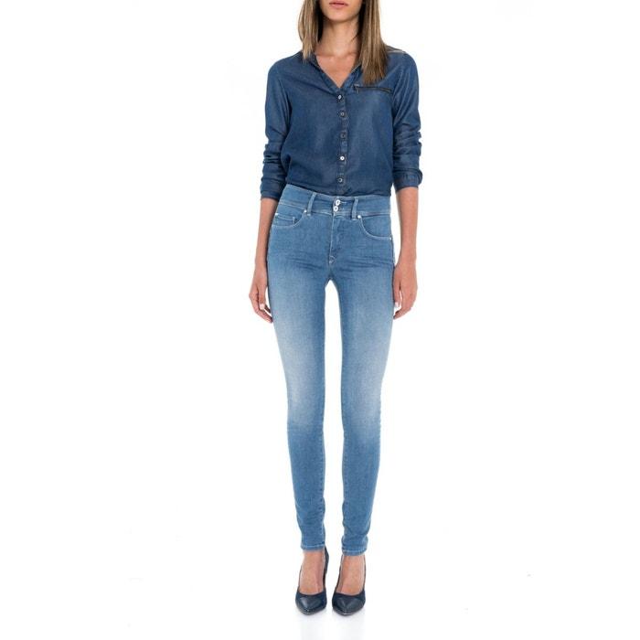 jeans skinny taille haute secret push in bleu salsa la redoute. Black Bedroom Furniture Sets. Home Design Ideas