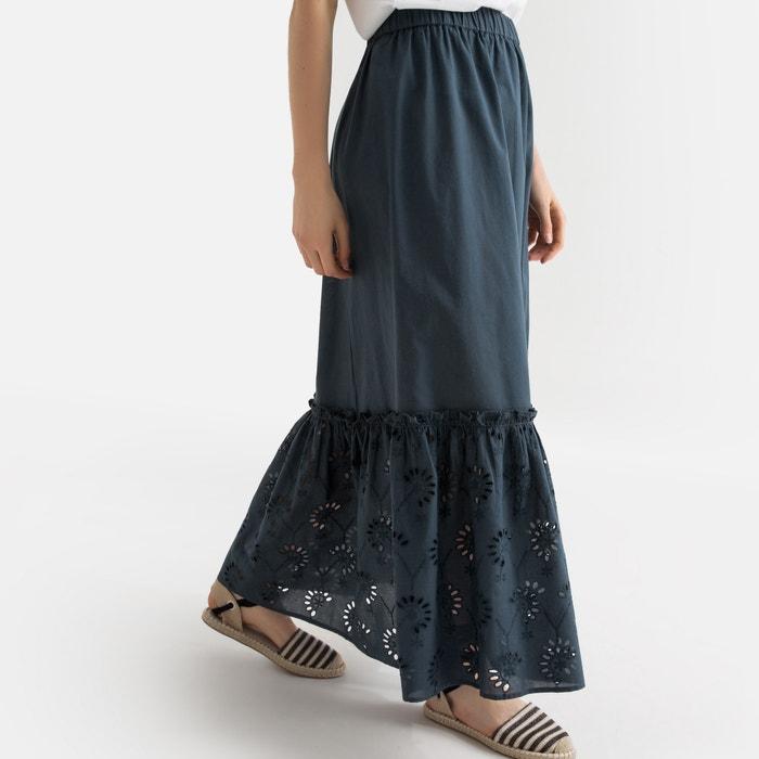 rico y magnífico último diseño brillo encantador Falda larga tipo enagua con bajo bordado