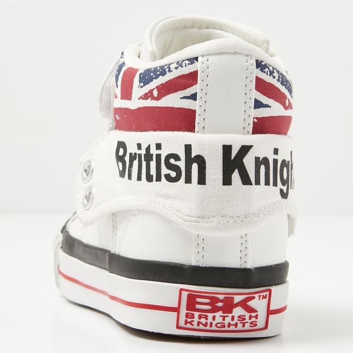 Roco garçons baskets montante blanc /union jack British Knights
