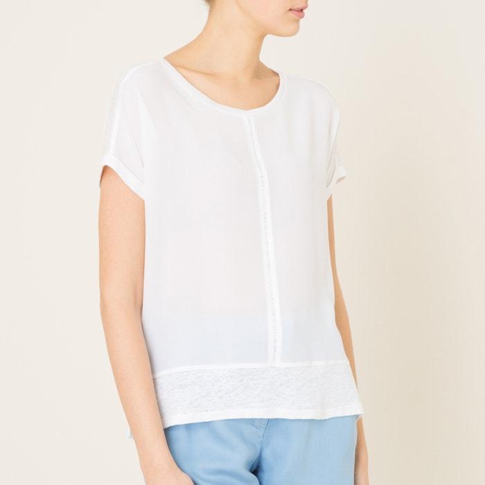afbeelding T-shirt in 2 stoffen VOYAGE GERARD DAREL