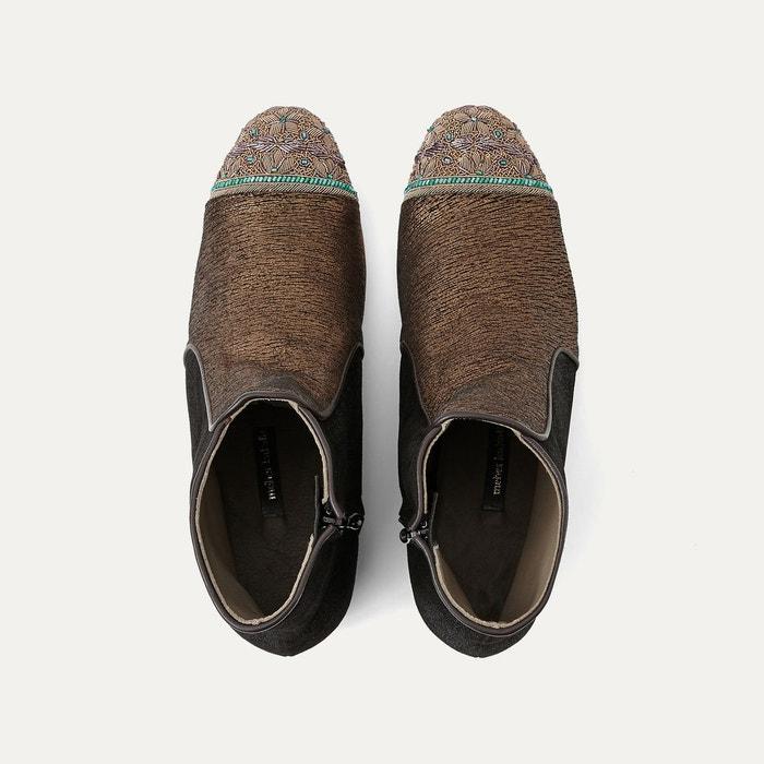 Boots cuir marron or Meher Kakalia