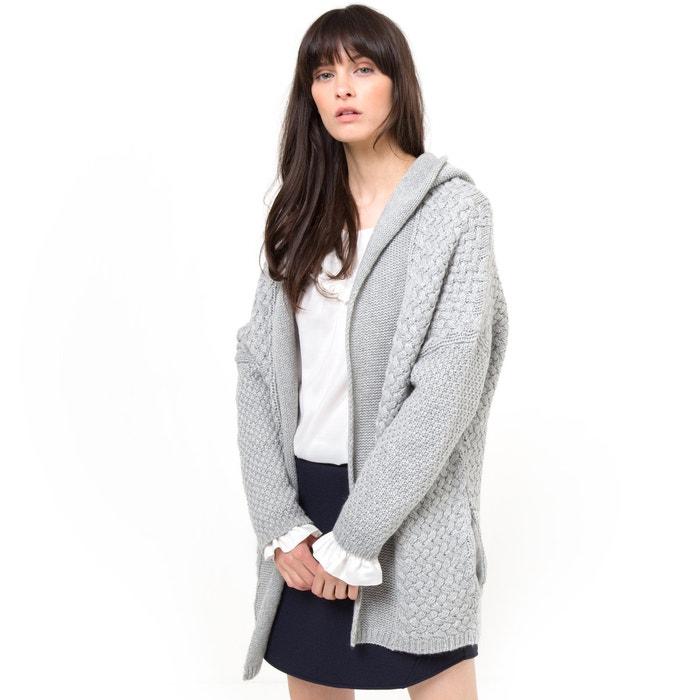 Image Cardicool jasje met kap in fantasie tricot R studio