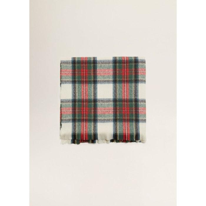 Écharpe à carreaux écossais blanc cassé Mango   La Redoute daaabcbd3d8
