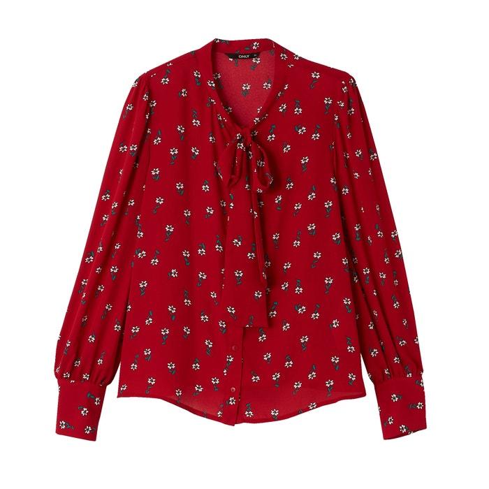 Camicia lavallière fantasia a fiori  ONLY image 0