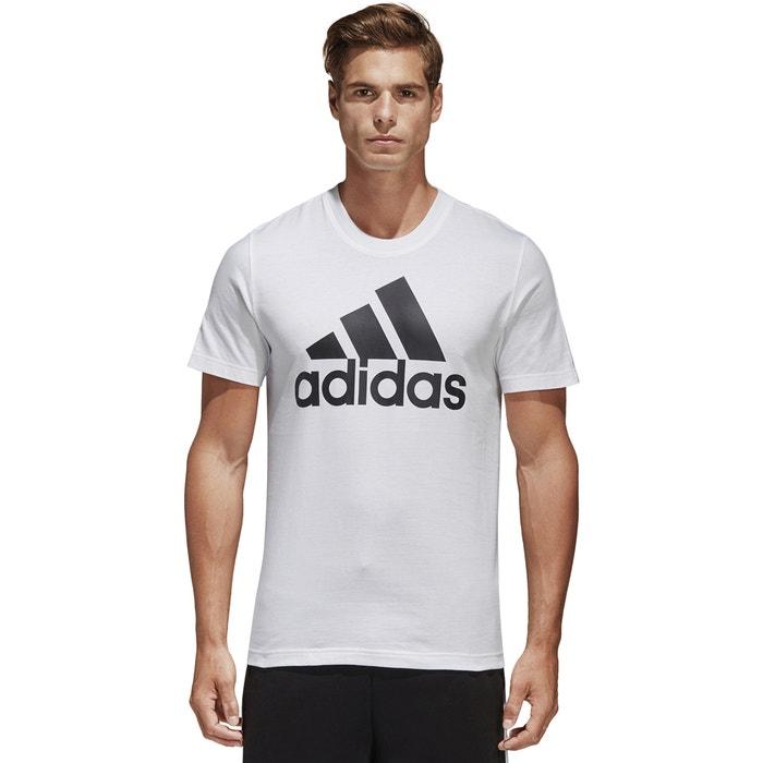 manga PERFORMANCE ADIDAS corta redondo con Camiseta estampado y cuello delante de Zzd1dAqw