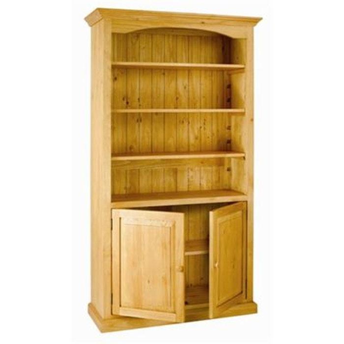 biblioth que en pin massif 4 niveaux 2 portes pays miel couleurs des alpes la redoute. Black Bedroom Furniture Sets. Home Design Ideas