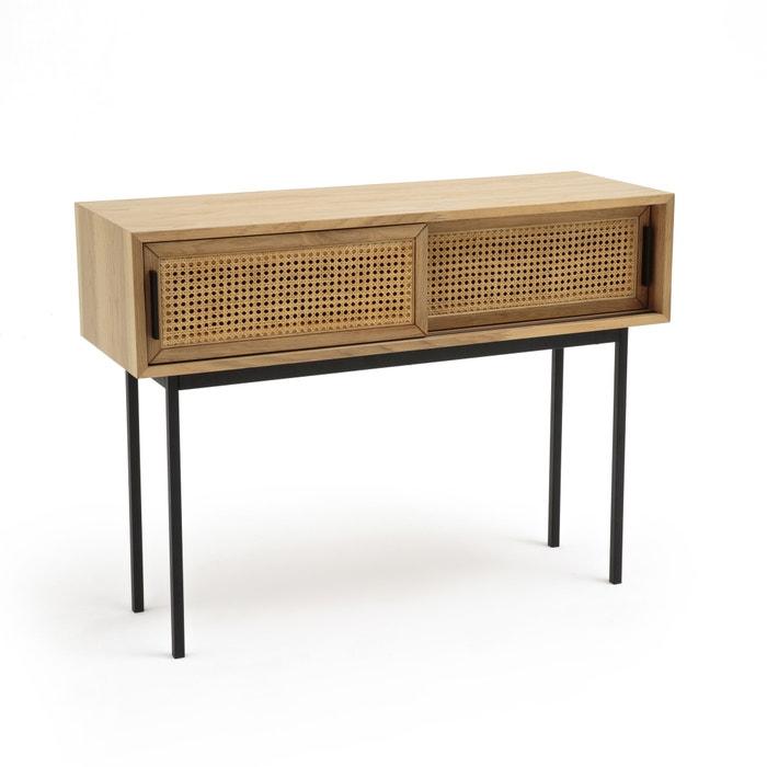 Waska Rattan Oak Console Table  LA REDOUTE INTERIEURS image 0