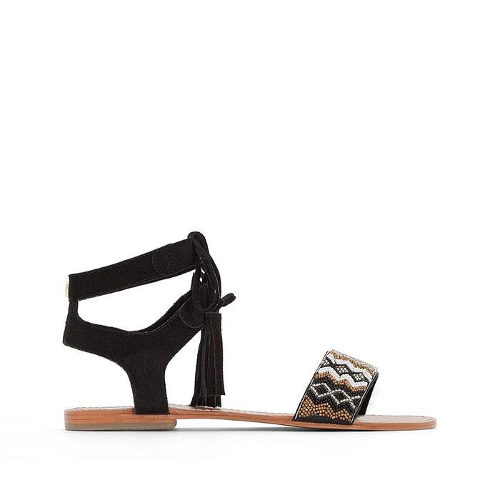 Sandales kampur noir Le Temps Des Cerises