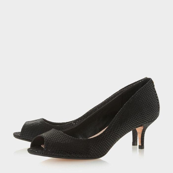 Chaussures à bout peep toe - cherrie noir synthétique Dune London