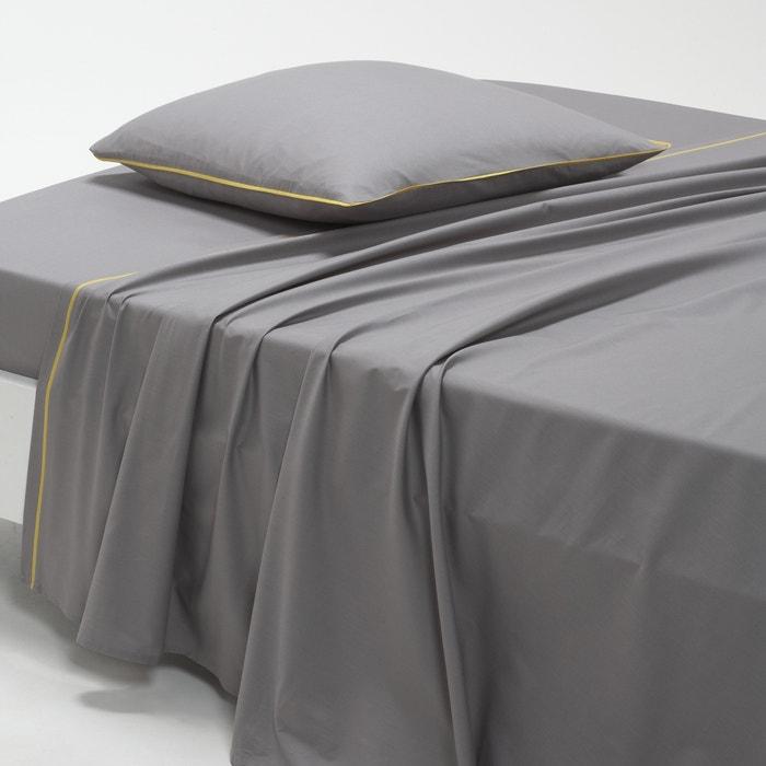 Image DUO Cotton Percale Flat Sheet La Redoute Interieurs