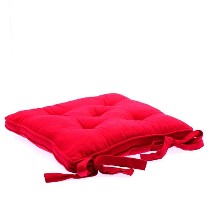 galette de chaise 5 boutons framboise framboise atmosphera la redoute. Black Bedroom Furniture Sets. Home Design Ideas