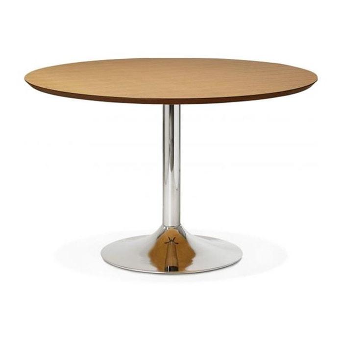 Table manger ronde ch ne pied m tal d120 barnet bois - Table ronde la redoute ...