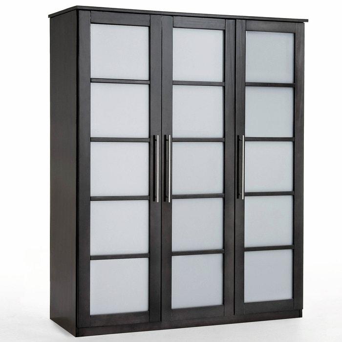 afbeelding Kast 3 deuren, dressing, dennenhout, H180 cm, Bolton La Redoute Interieurs