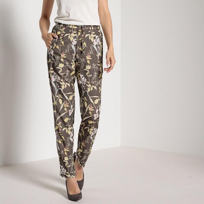 Pantaloni dritti fantasia, cintura elasticizzata dietro  ANNE WEYBURN image 0
