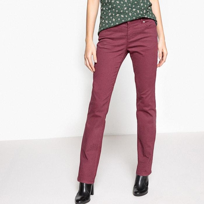 Pantalon droit, 5 poches, coton stretch La Redoute Collections