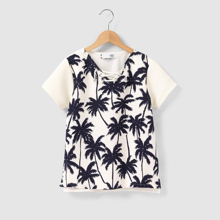 T-shirt scollo a V, da 8 a 16 anni  LE TEMPS DES CERISES image 0