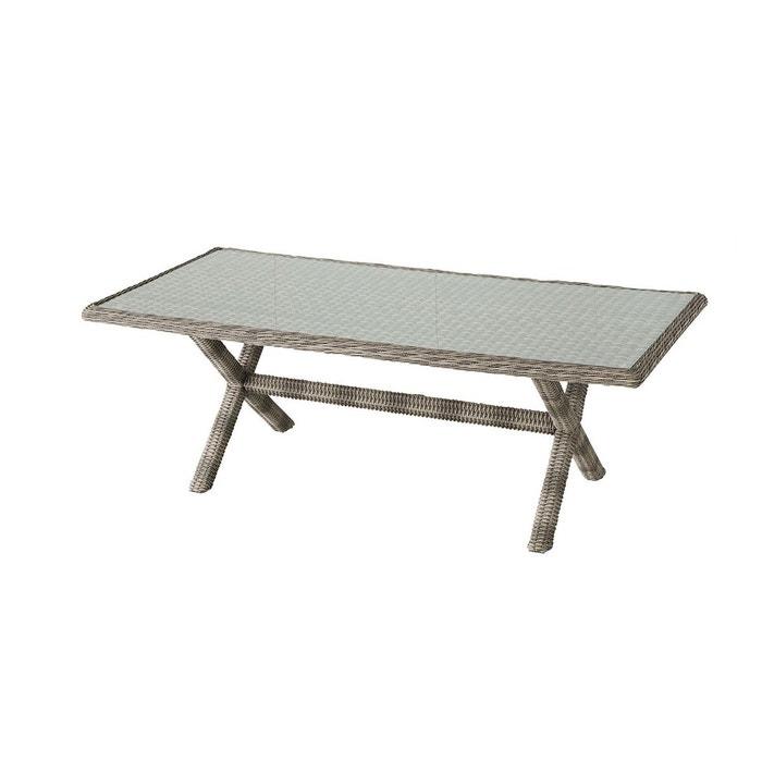 Table de jardin en résine tressée Betong - 8 Personnes
