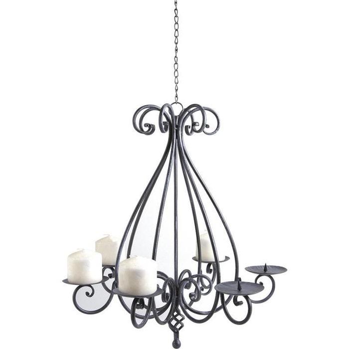 lustre chandelier 6 bougies gris aubry gaspard la redoute. Black Bedroom Furniture Sets. Home Design Ideas