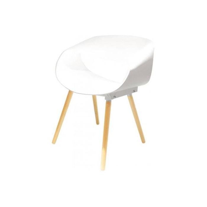 Chaise design blanche rolf blanc declikdeco la redoute - La chaise blanche ...
