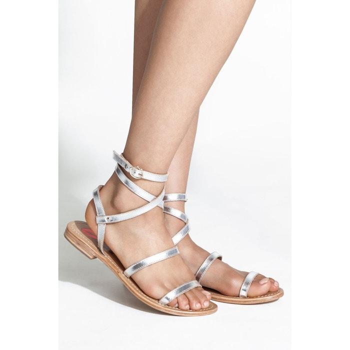 Sandales blaire  silver Bons Baisers De Paname  La Redoute