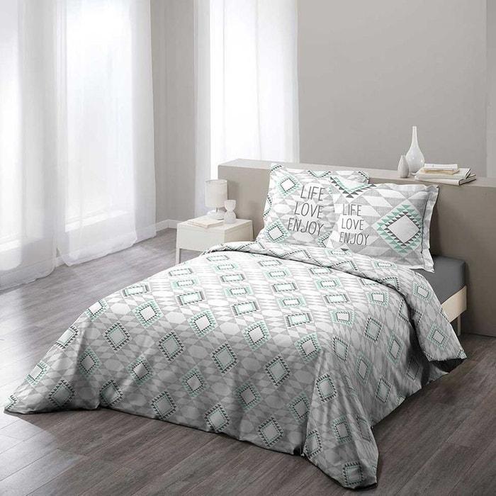 parure de lit ethnique gris home maison la redoute. Black Bedroom Furniture Sets. Home Design Ideas