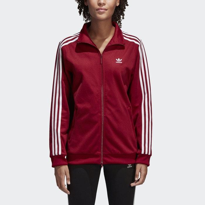 Veste zippée sportwear bordeaux Adidas Originals   La Redoute a1d5ea7c9e3