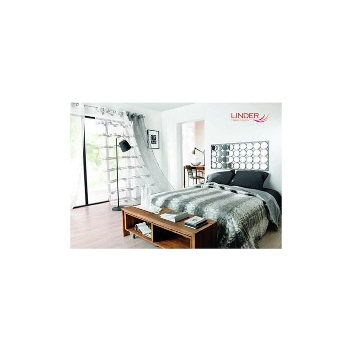 jet de lit en fausse fourrure gris et blanc home maison la redoute. Black Bedroom Furniture Sets. Home Design Ideas