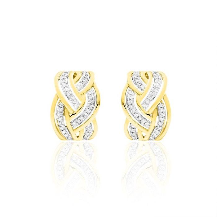Confortable À Vendre Boucles d'oreilles or et diamants jaune Histoire D'or | La Redoute excellent cy7svNUu70