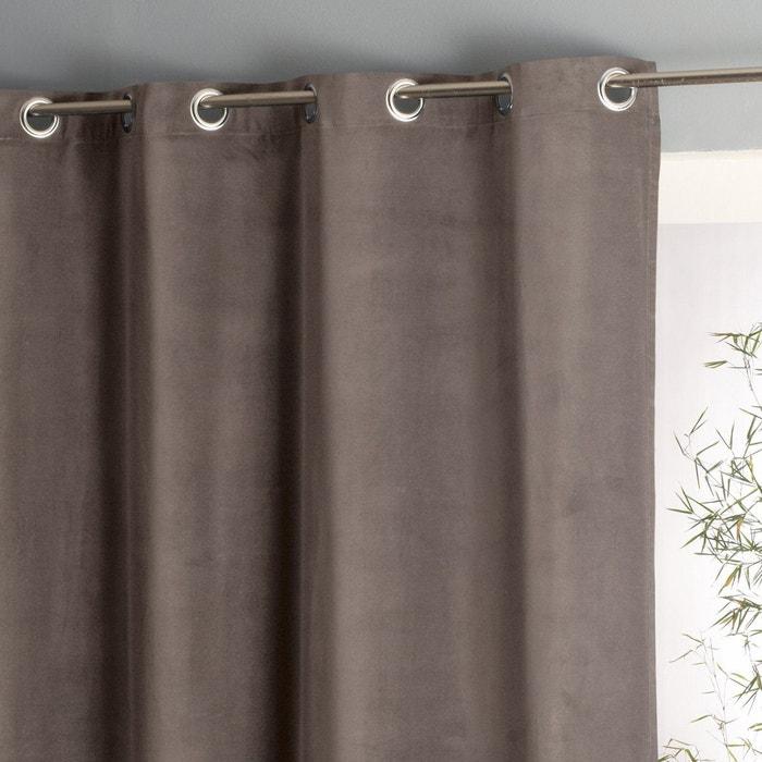 rideau velours pur coton oeillets wouri marron taupe la. Black Bedroom Furniture Sets. Home Design Ideas