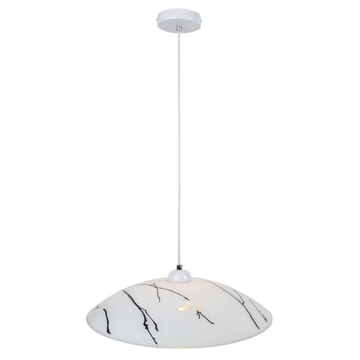 suspension cuisine papillon blanche en verre blanc keria la redoute. Black Bedroom Furniture Sets. Home Design Ideas