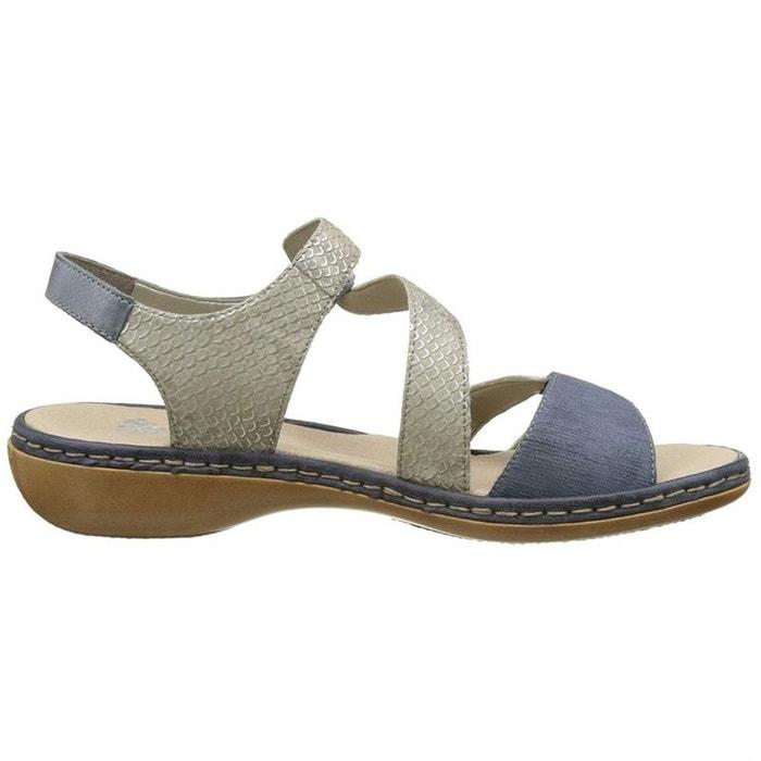 Sandales  /  nu-pieds cuir  beigea Rieker  La Redoute
