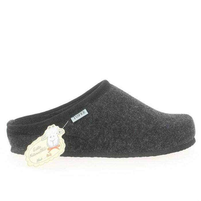 Mules  /  sabots laine  gris Tofee  La Redoute