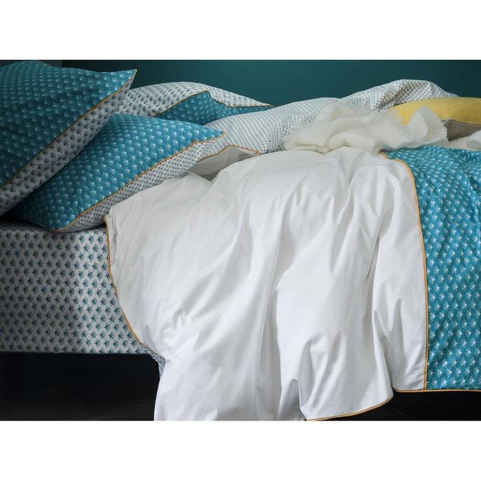 drap housse bonnet 37 cm percale 80 fils cm imprim v g tal blanc et canard blanc canard. Black Bedroom Furniture Sets. Home Design Ideas