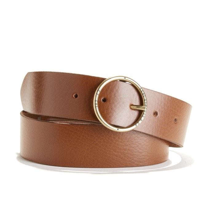 ae7c9fc82a6b7 Cinturón de piel fashion circle marrón Levi s