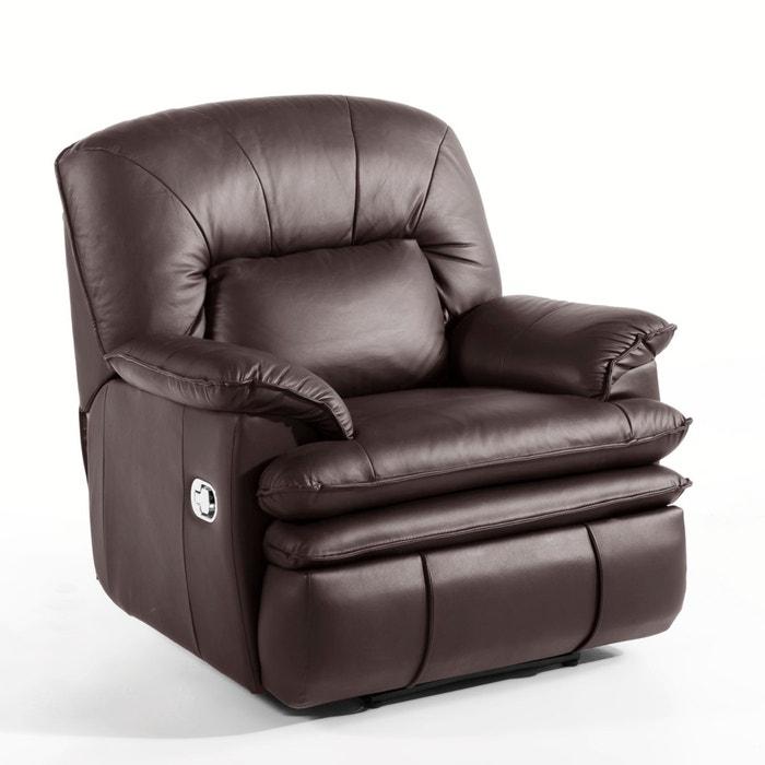 Cadeirão de relaxamento em pele, Matei, função massagem  La Redoute Interieurs image 0