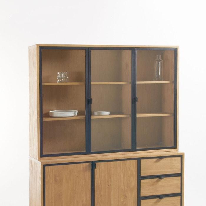 Vaisselier 3 portes daffo bois clair la redoute interieurs for Soldes la redoute meubles