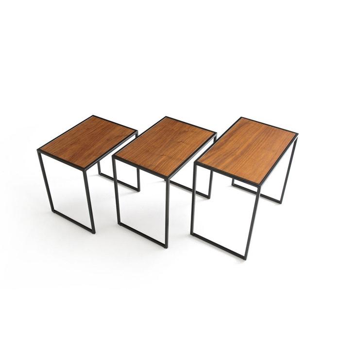 table basse gigogne lot de 3 watford noyer la redoute interieurs la redoute. Black Bedroom Furniture Sets. Home Design Ideas