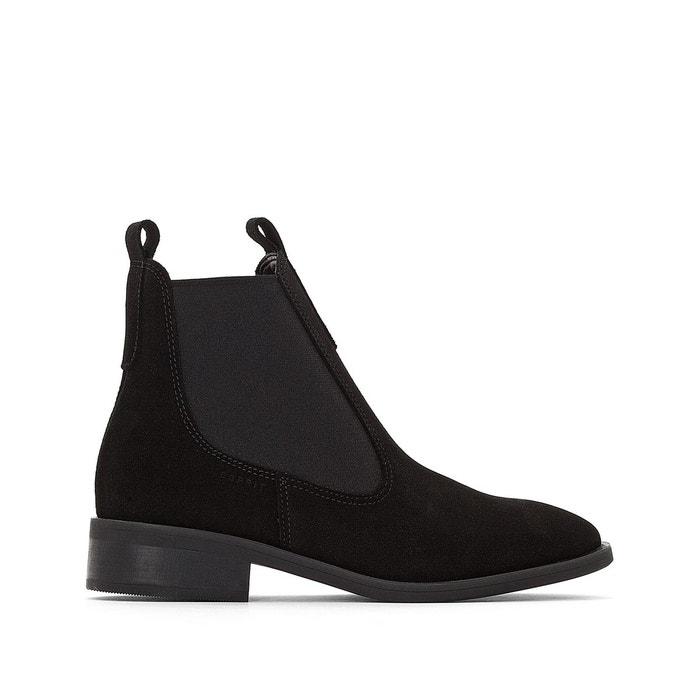Redoute Esprit Cuir Noir Boots Aida La TFPqtzXw